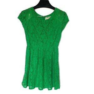 Coincidence and Chance Green lace dress size small